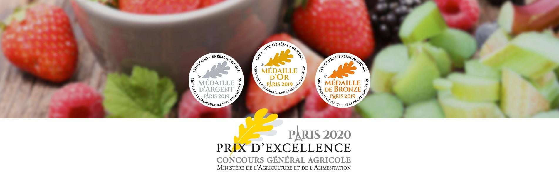 PRIX D'EXCELLENCE CONCOURS GENERAL AGRICOLE 2020